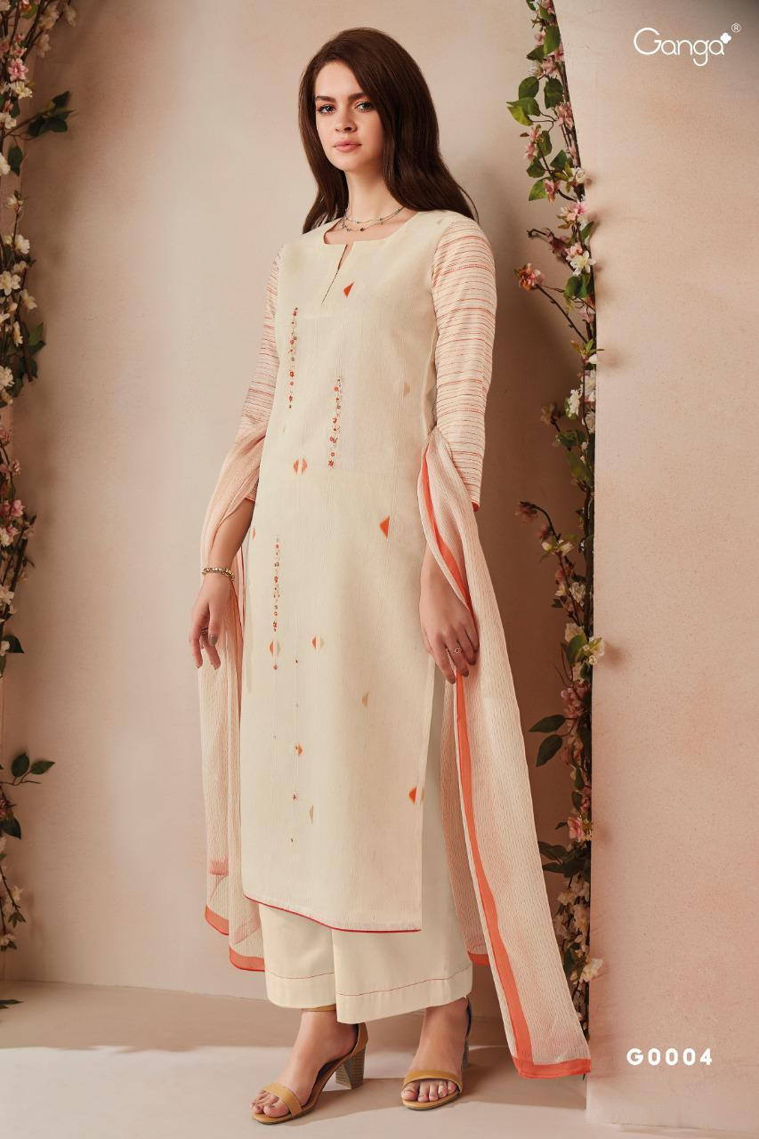 Emma By Ganga Pure Silk Jacquard With Embroidery Heavy Look Salwar Suits Wholesaler