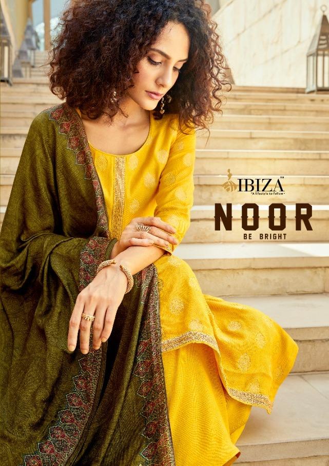 Ibiza Present Noor Wool Jacquard Ethnic Wear Suits Wholesaler