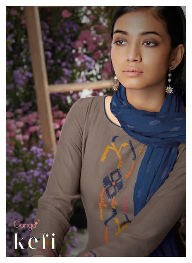 Kefi By Ganga Wool Dobby With Embroidery Stylish Salwar Kameez In India
