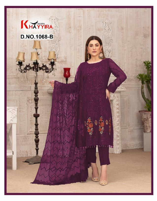 Khayyira Suits Launching Exotic Georgette With Embroidery Pakistani Suits Concept