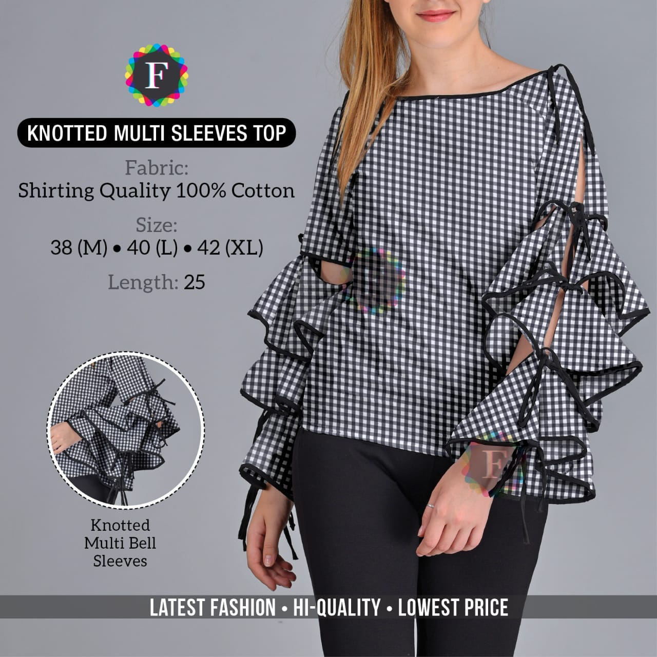 Knotted Multi Sleeve Top Western Girls Tops Buy Online At Cheap Rates