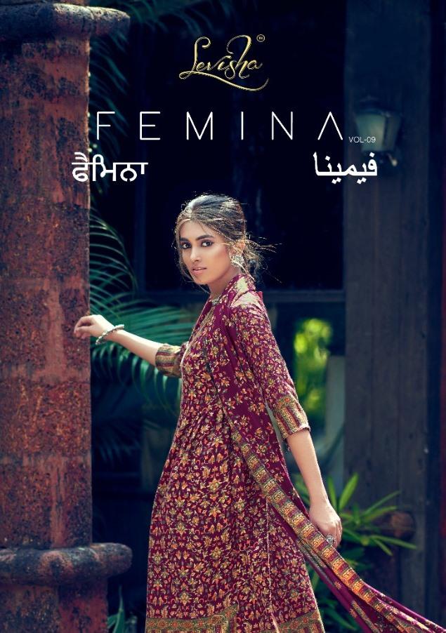 Levisha Presents Femina Vol 9 Pure Pashmina Print Casual Wear Salwar Kameez