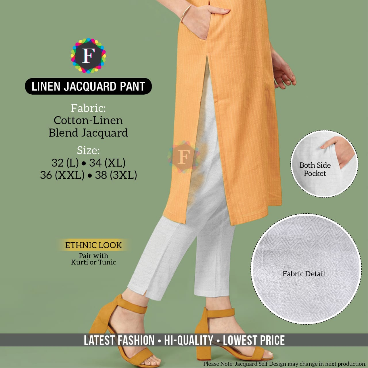 Linen Jacquard Pant Traditional Wear Bottom Pant Collection