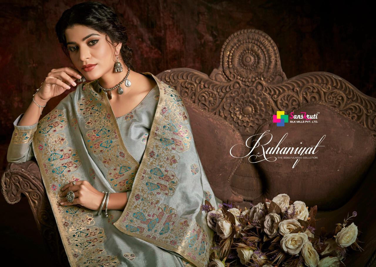 Ruhaniyat By Ibiza Pure Russian Minakari Jacquard Pary And Festival Wear Salwar Suits Exporter