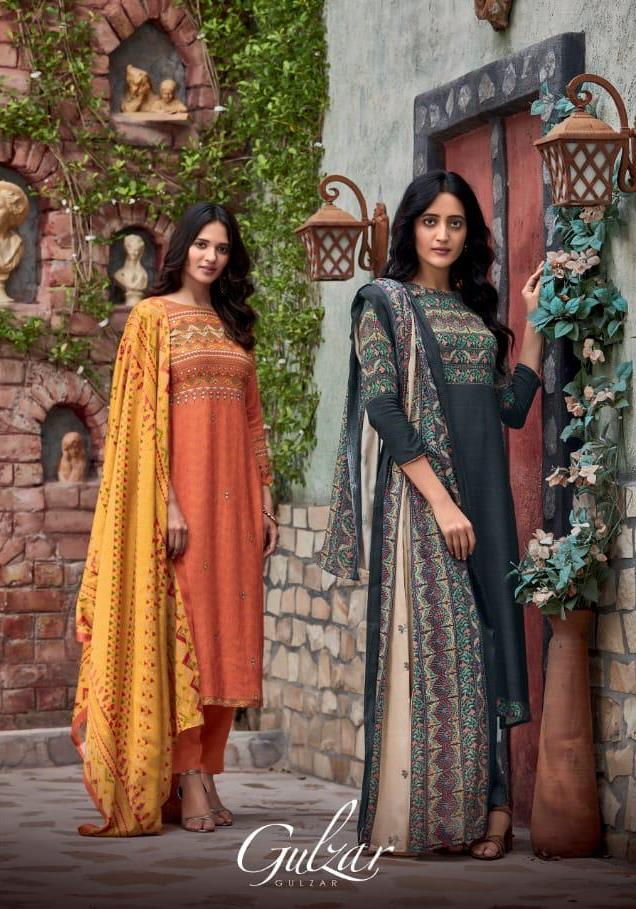 T And M Presents Gulzar Pashmina With Work Classy Look Salwar Kameez In India