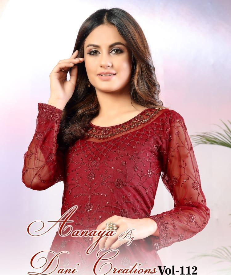 Twisha Presents Aanaya Vol 112 Net Long Gown Style Party Wear Suit Looking Pretty