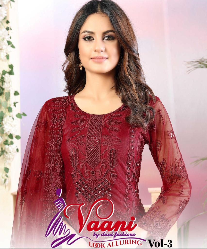 Vaani Vol 3 By Dani Fashion Net With Sequence Work Salwar Kameez