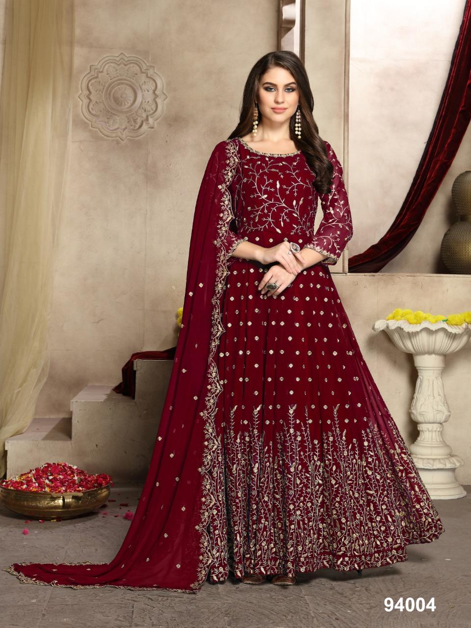 Aanaya Launch Aanaya 94000 Colours Georgette Long Gown Style Designer Party Wear Suits