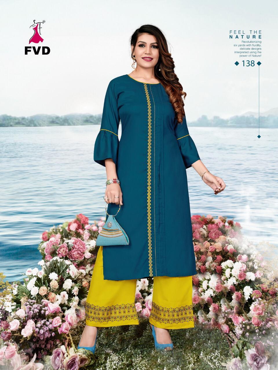 Fashion Valley Dress Launch Jalwa Vol 2 Rayon Embroidery Work Kurti With Plazzo Seller
