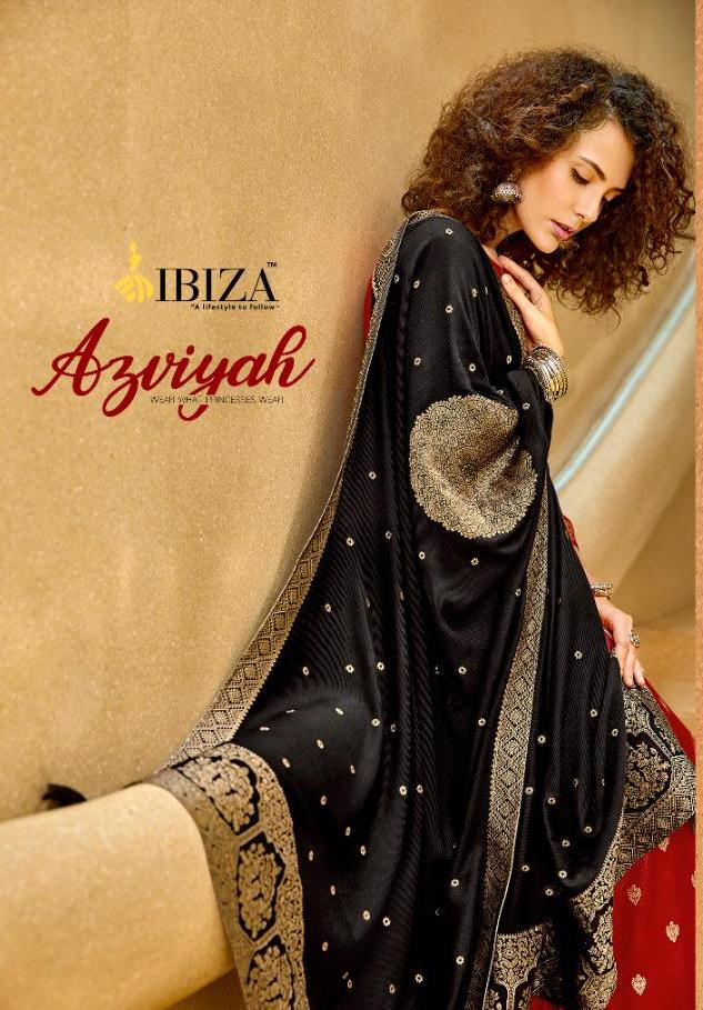 Ibiza Presenting Azviyah Pure Pashmina Jacquard Festival Wear Traditional Look Suits Exporter