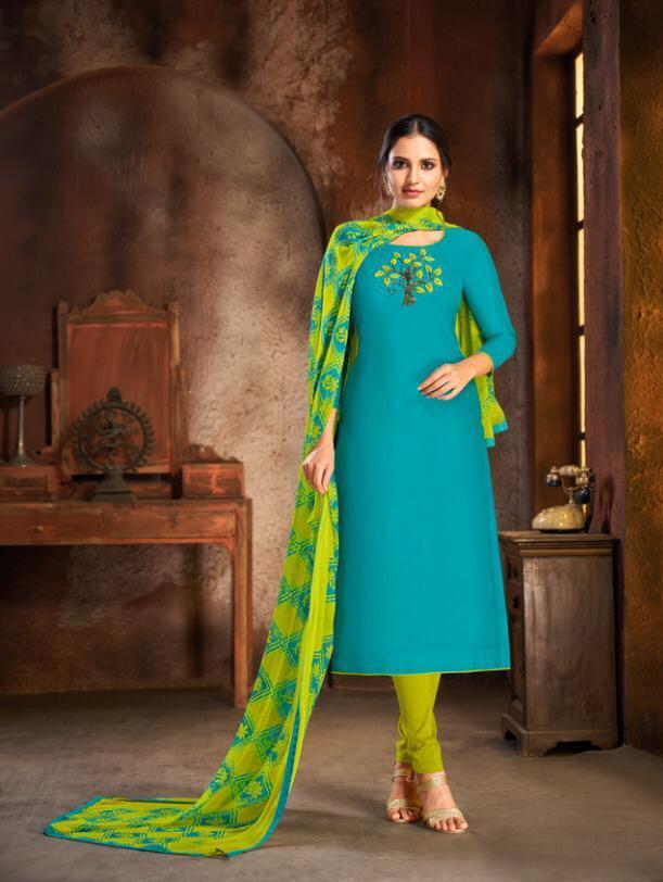 Kapil Trendz Launch Spring Vol 5 Cotton Casual Wear Dress Materials In Surat Market