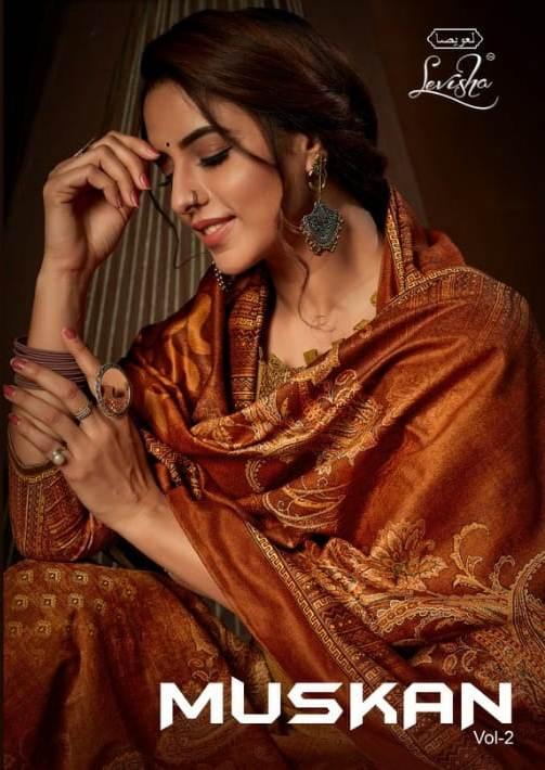 Levisha Launch Muskaan Vol 2 Pure Velvet Digital Print Salwar Suits Charming Look