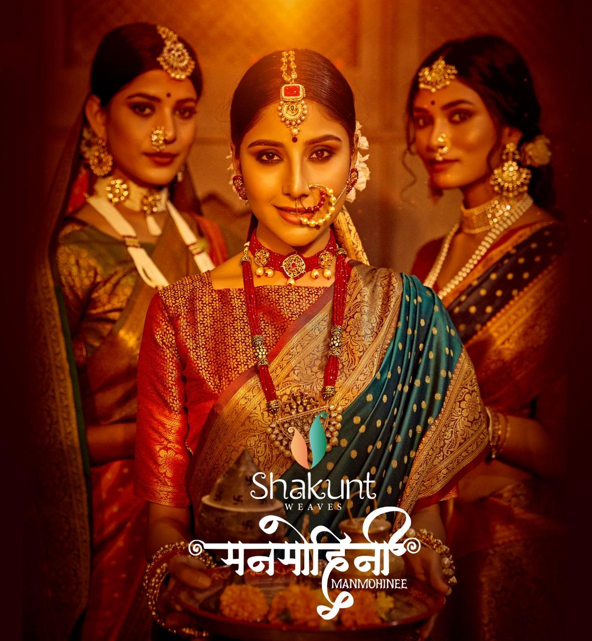 Manmohini By Shakunt Art Silk Exclusive Designer Wedding Wear Saree Supplier
