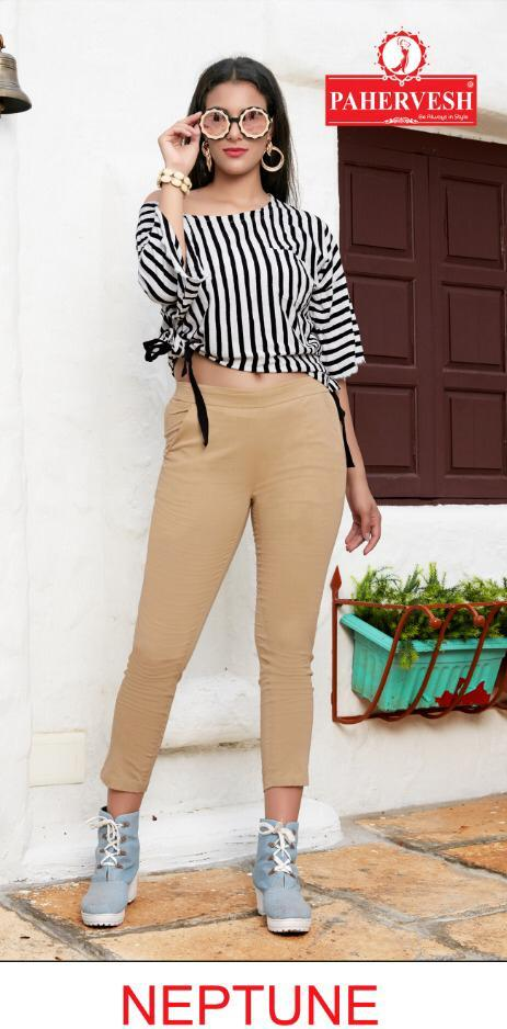 Pahervesh Presents Neptune Cotton Lycra Casual Wear Pant Wholesaler In Surat Market