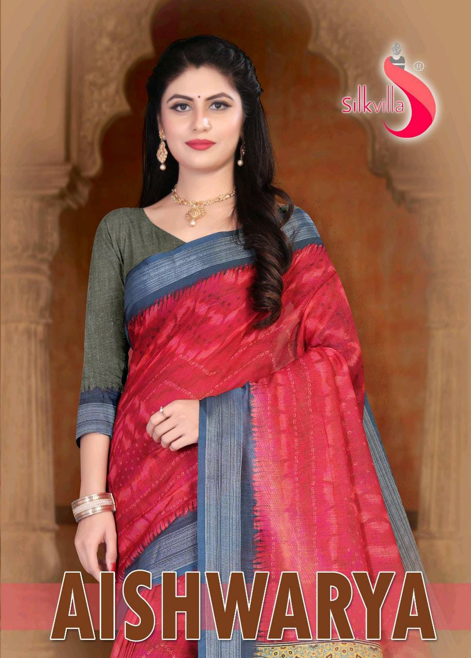Silk Villa Launch Aishwarya Linen Classy Look Saree Women Clothing Store In India