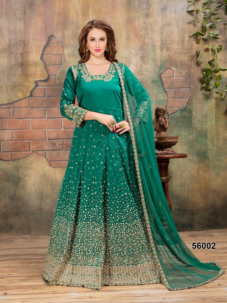 Twisha Aanaya 56000 Series Tafeta Silk Wedding And Party Wear Designer Salwar Suits Wholesaler