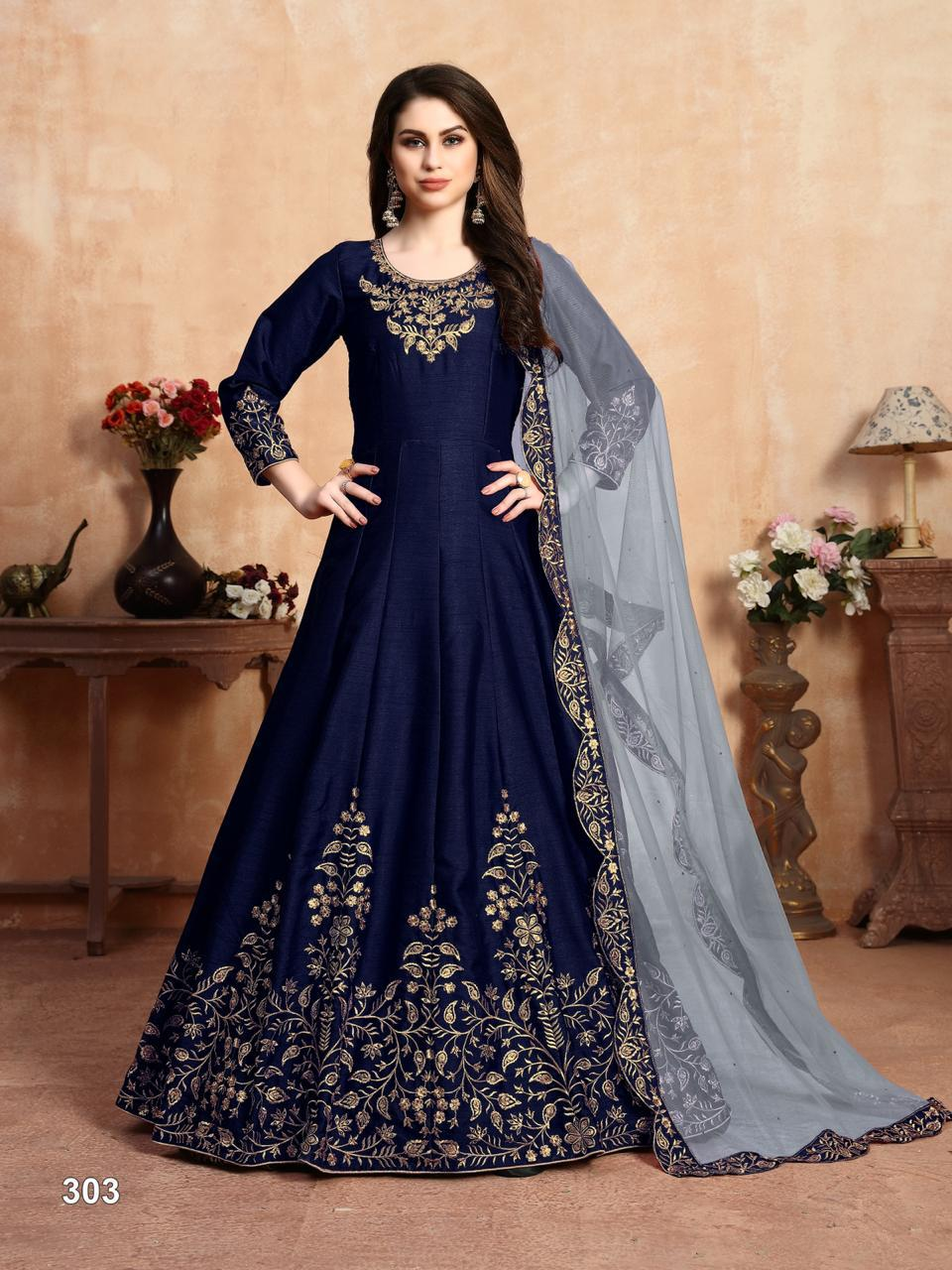 Twisha Aanaya Vol 103 Silk Anarkali Wedding Salwar Suits