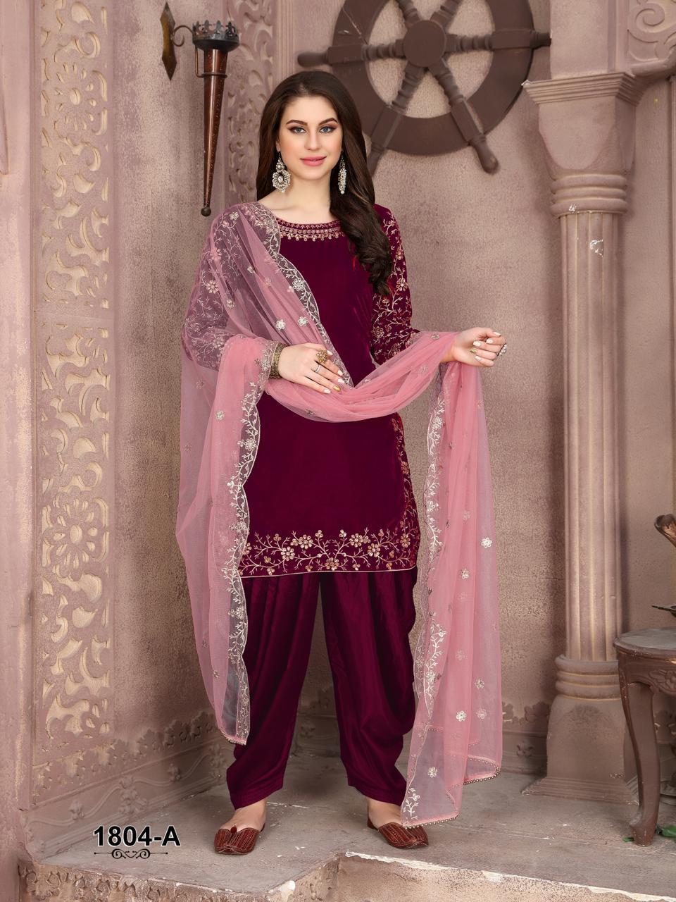 Twisha Presents Twisha 1804 Colors Velvet Designer Exclusive Party Wear Salwar Suits