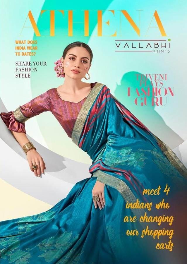 Athena By Vallabhi Exclusive Women Special Vichitra Silk Saree Collections