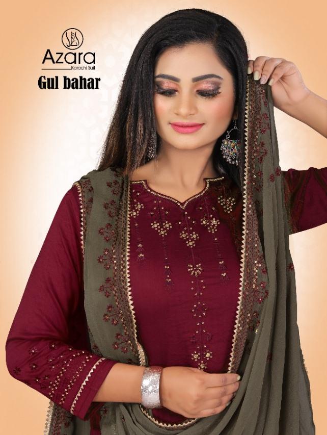 Azara Launch Gul Bahar Maska Silk Traditional Wear Plazzo Bottom Suits Collections