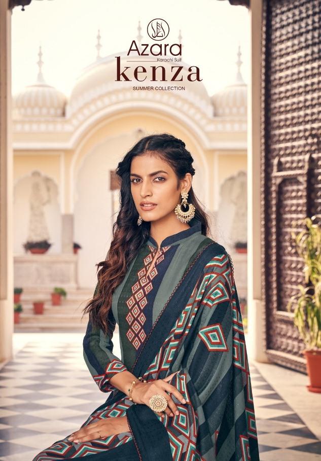 Azara Presenting Kenza Pure Cambric Cotton Classy Look Casual Wear Dress Materials