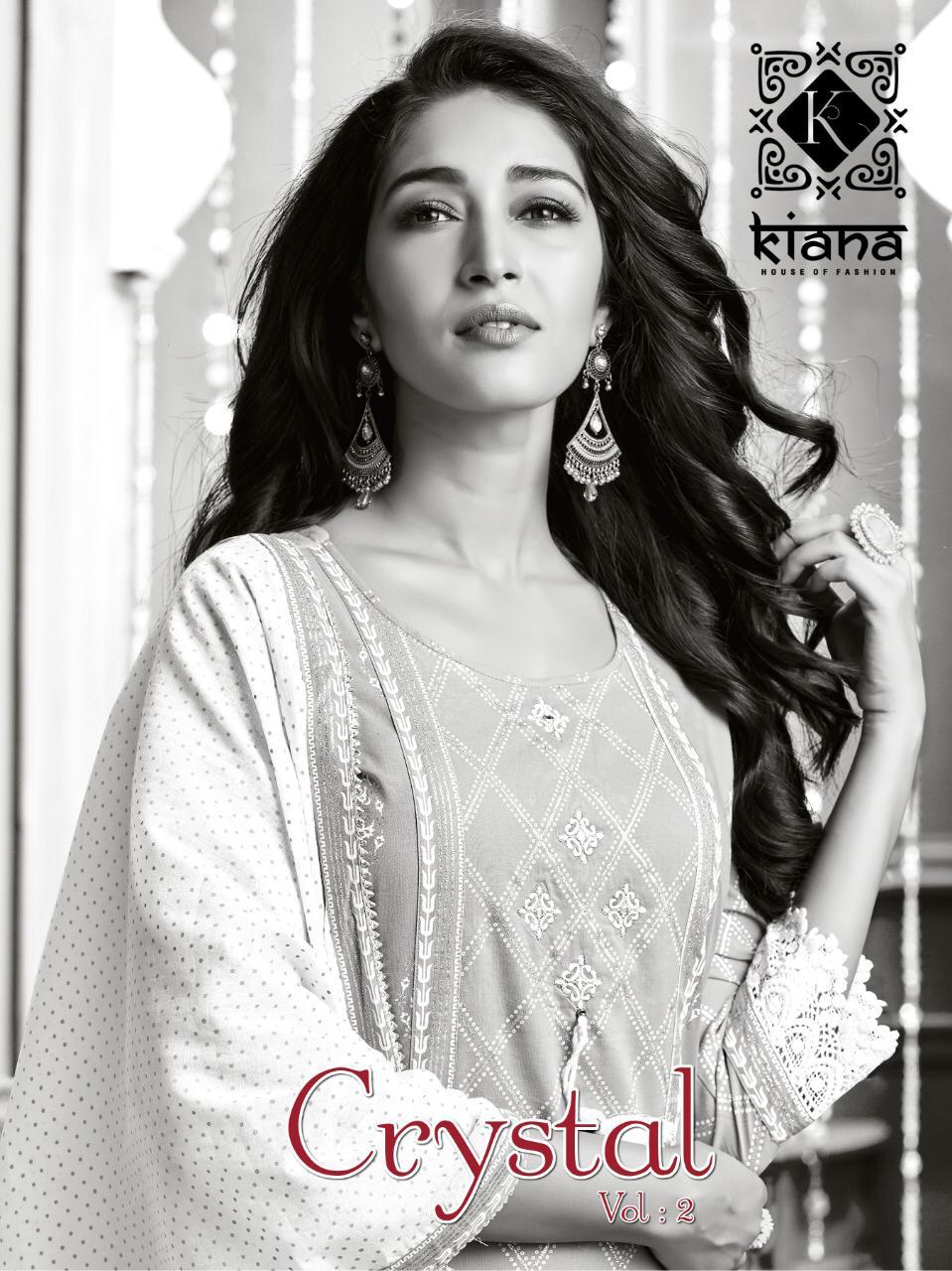 Crystal Vol 2 By Kiana Chanderi Silk Rayon Top With Sharara Pant Plazzo And Dupatta Readymade