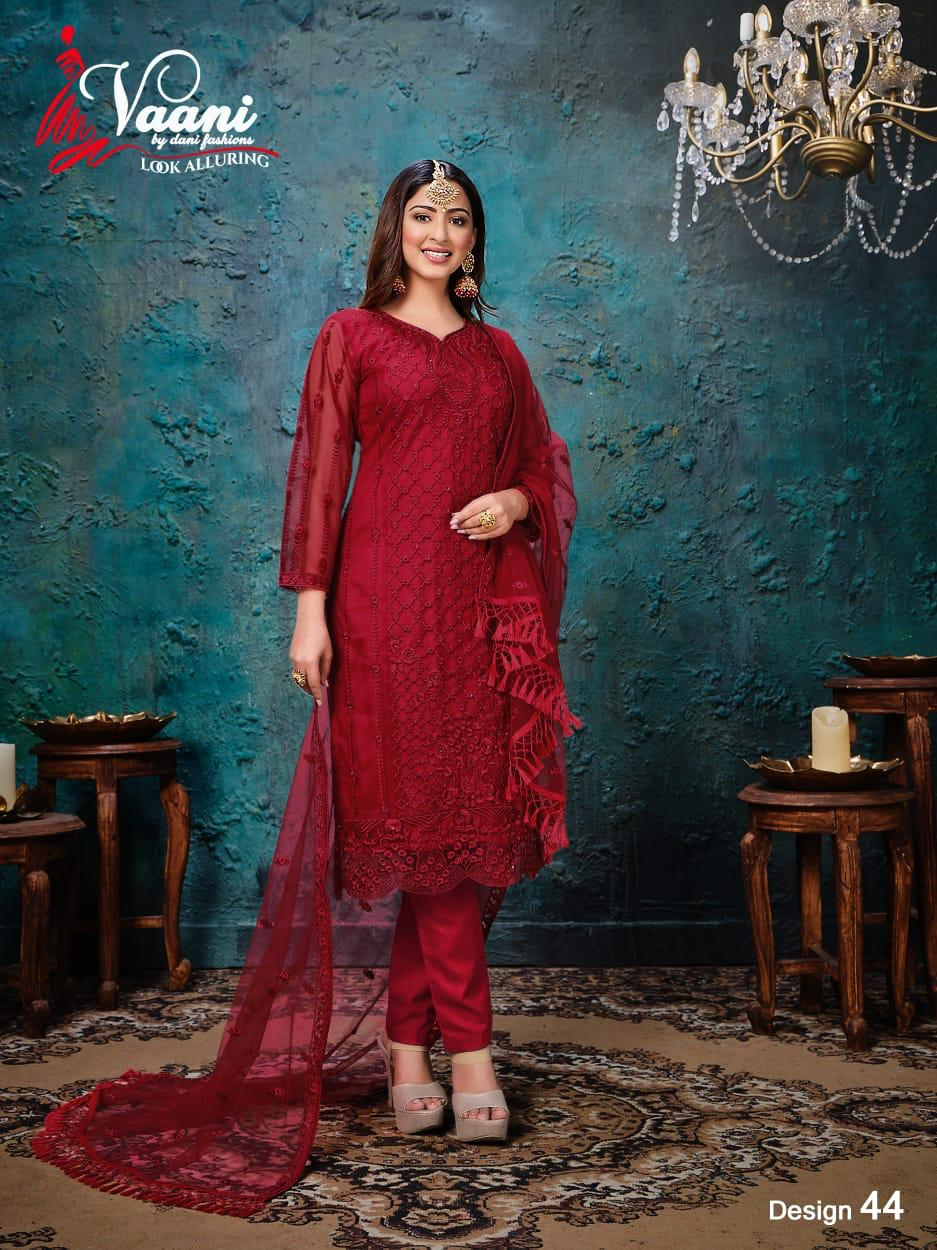 Dani Fashion Launching Vaani Vol 4 Net With Heavy Work Designer Salwar Kameez