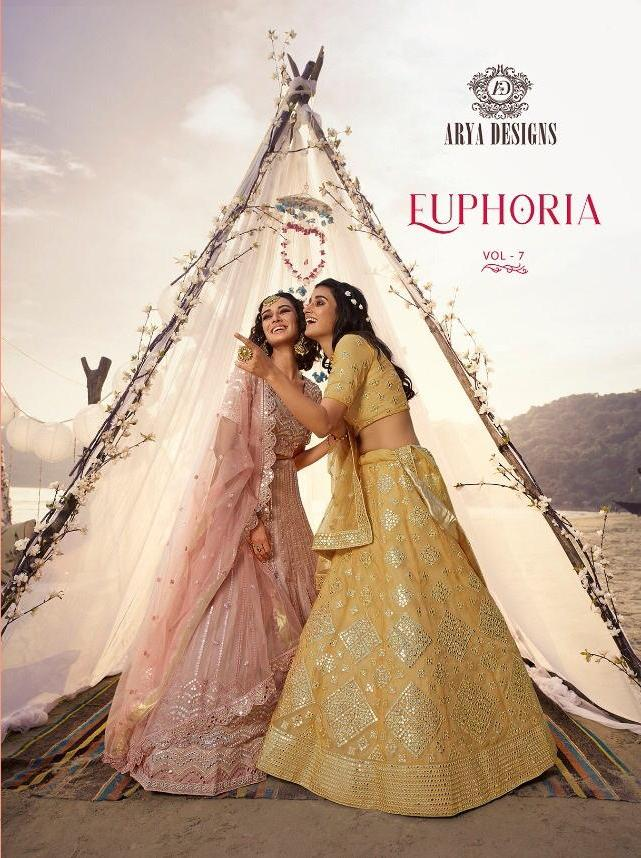 Euphoria Vol 7 By Arya Organza Embroidery Bridal Wedding Lehanga