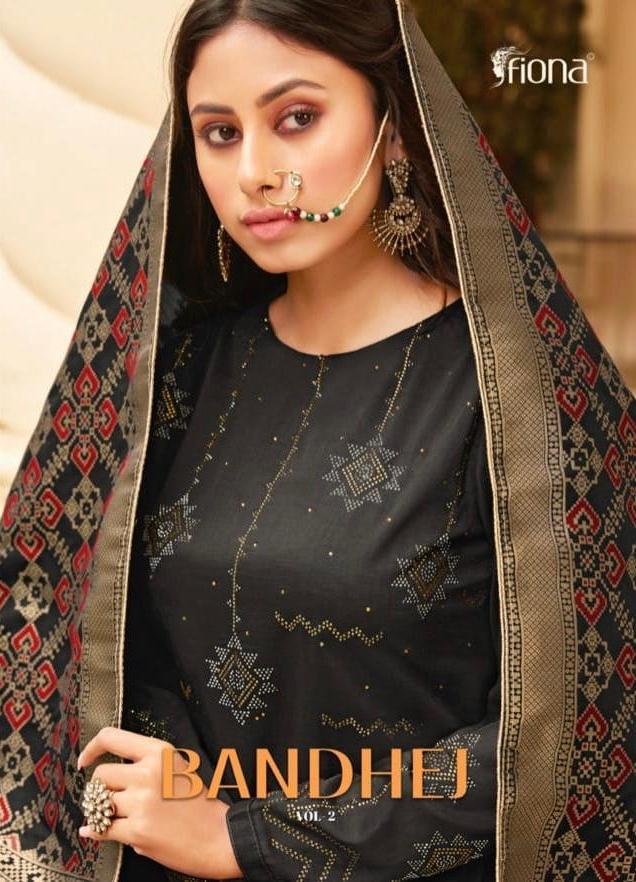 Fiona Bandhej Vol 2 Exclusive Soft Silk 23011-23017 Series Indian Look Salwar Suits