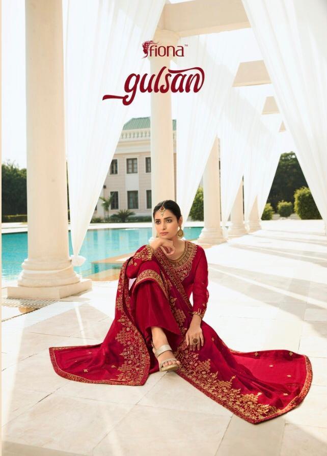 Fiona Launch Gulshan Georgette Party Wear Heavy Work Salwar Kameez