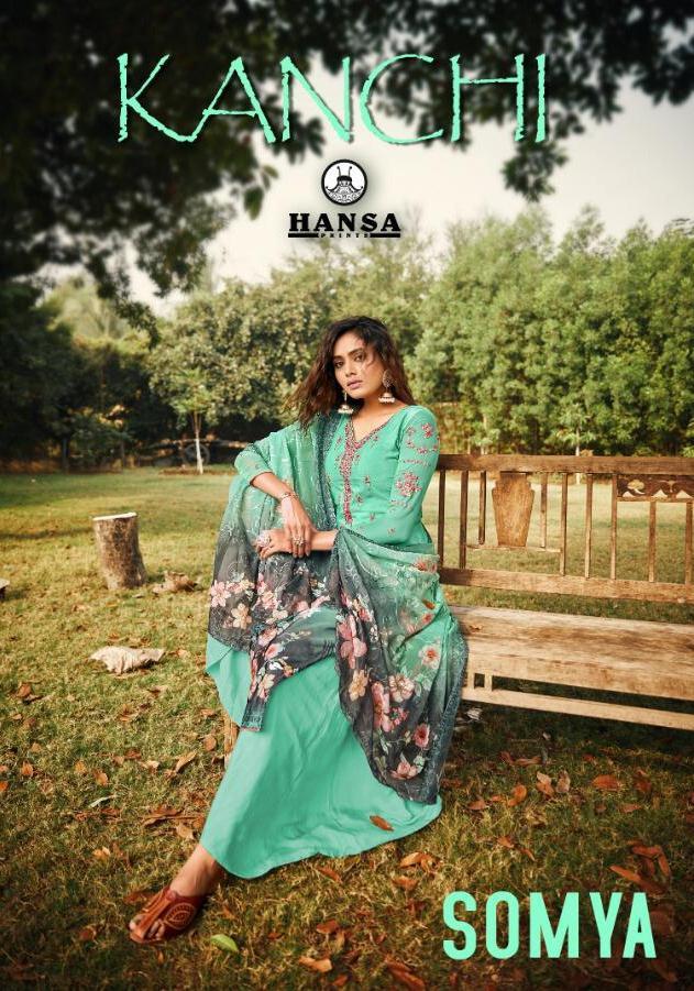 Hansa Presents Saumya Crape Digital Print With Work Festival Wear Salwar Suits Trader
