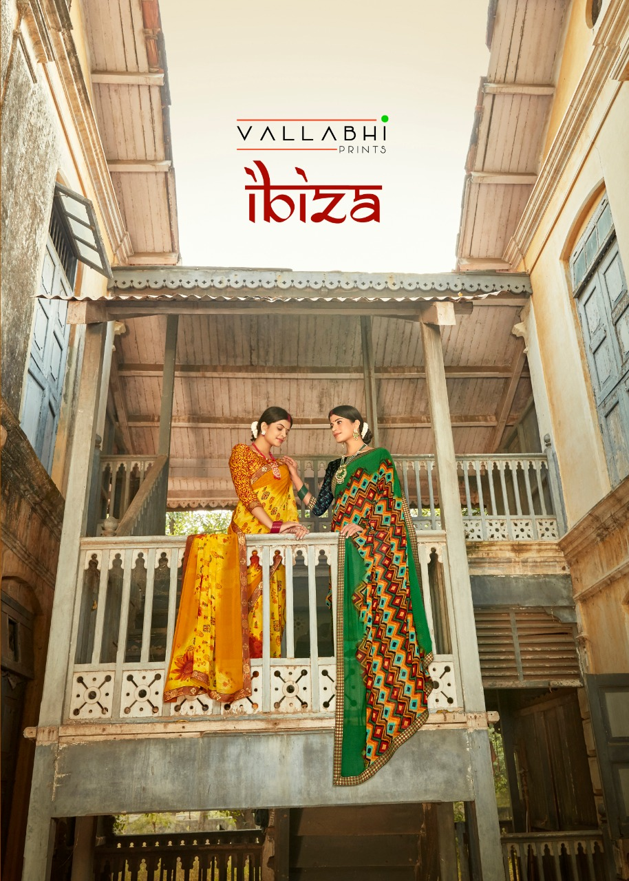 Ibiza By Vallabhi Exclusive Georgette Casual Wear Indian Look Saree Collections