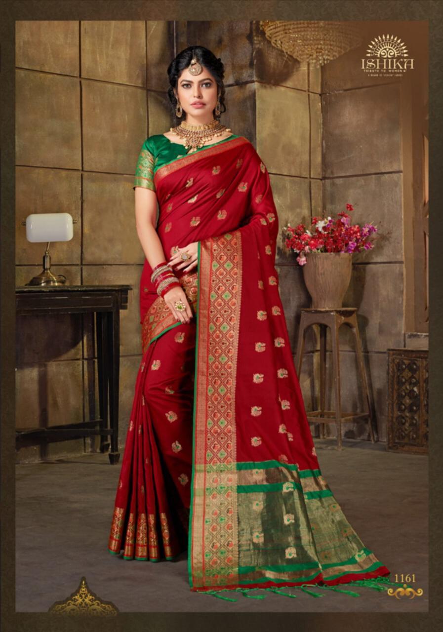 Ishika Presents Kailasa Silk Vol 2 1161-1168 Series Silk Traditional Wear Saree Catalogs