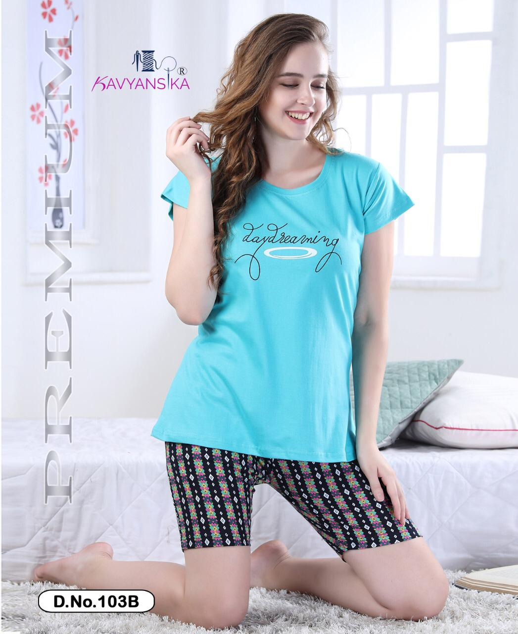Kavyansika Presents Vol 103 Premium Cotton Summer Seasons Special Short Night Suits