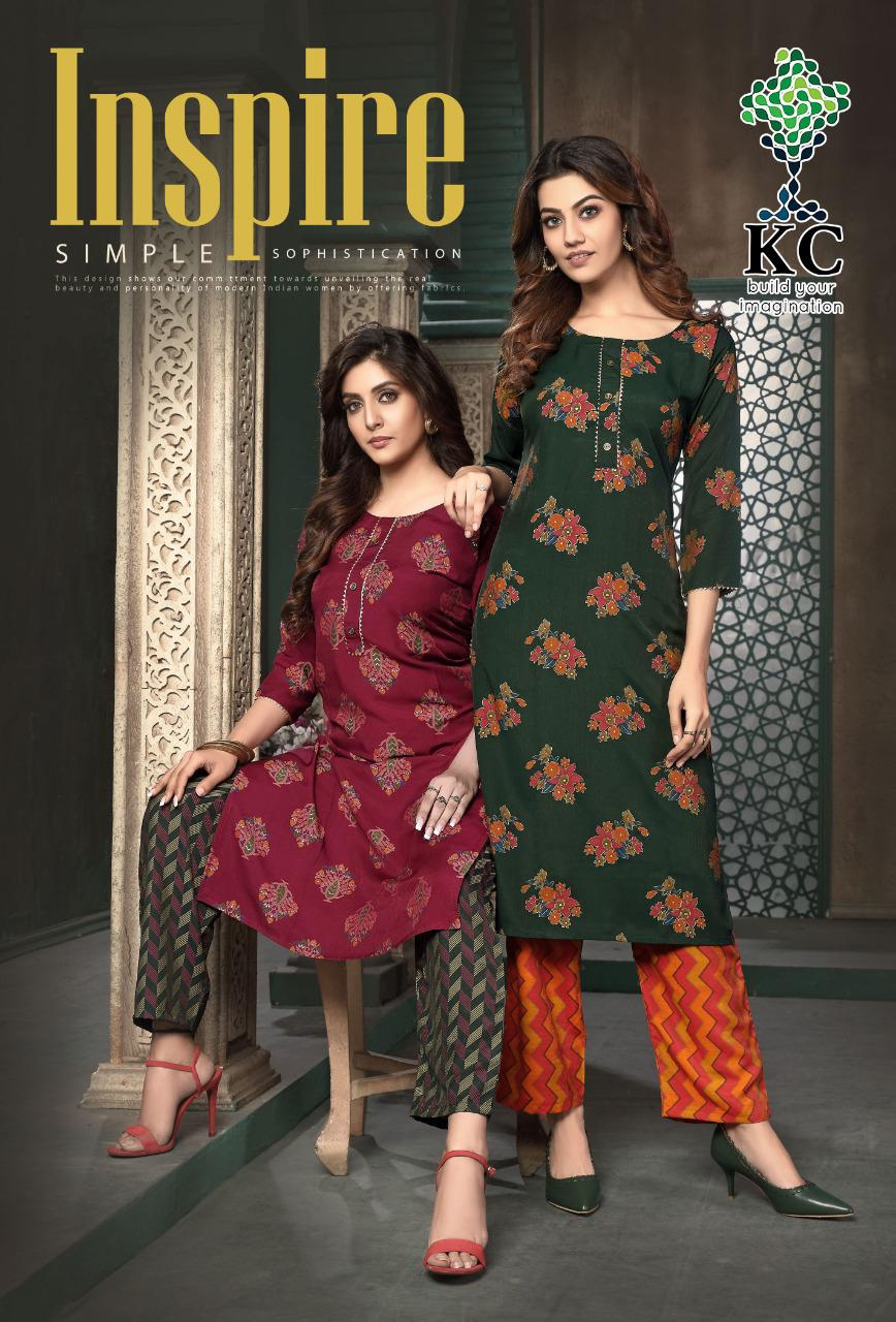 Kc Presents Inspire Rayon Prints Top With Bottom Catalogs Seller