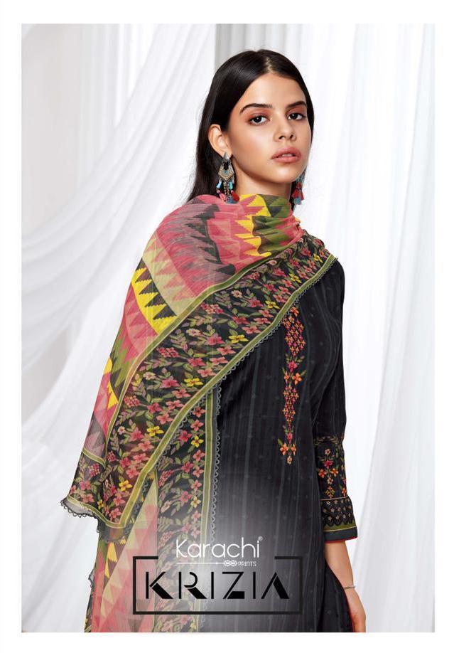 Kesar Karachi Prints Krizia Jam Silk Exclusive Stylish Dress Materials In Surat Market