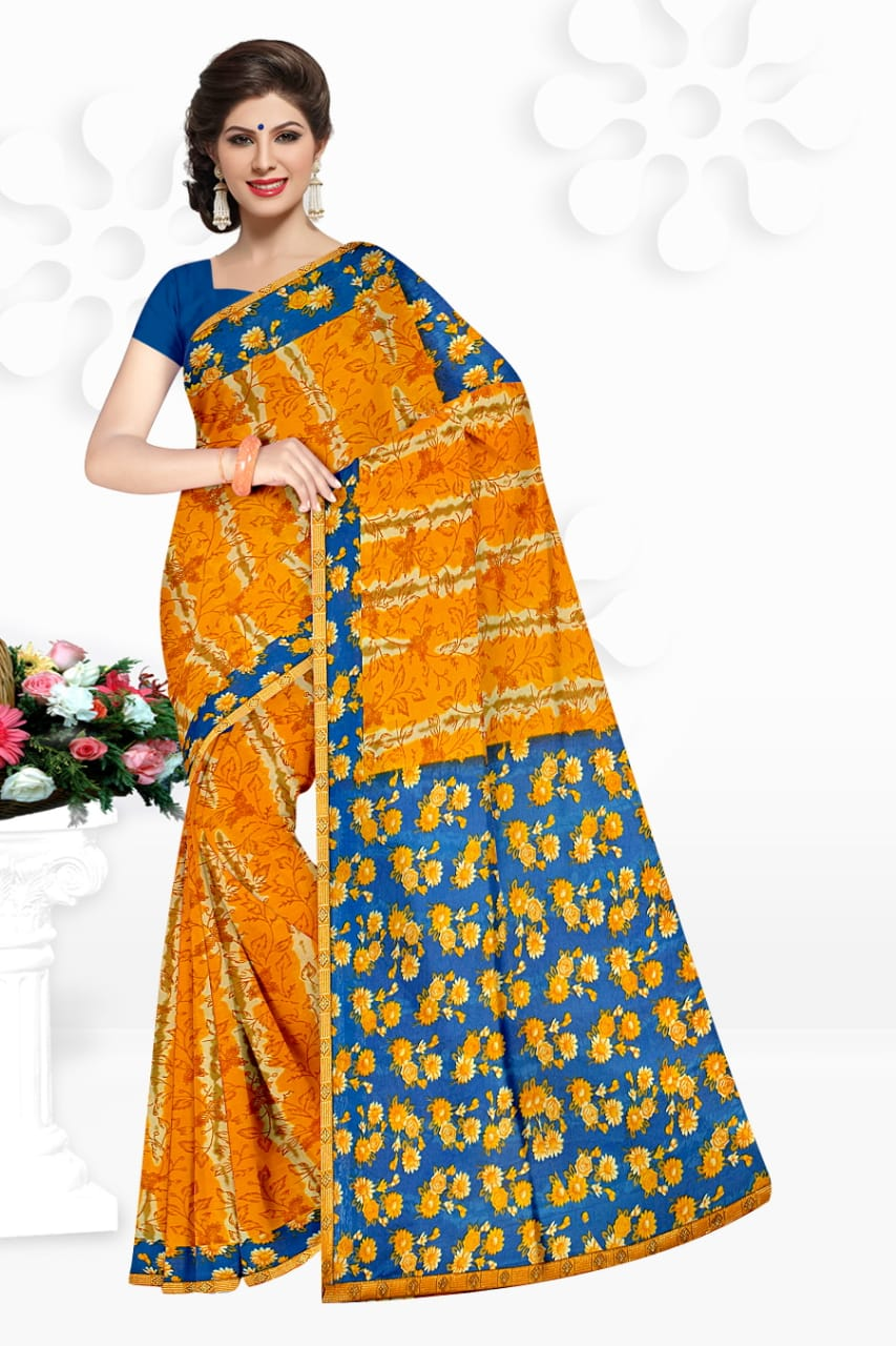 Kesari Vol 1 By Narmada Renail With Border Lowest Rate Saree Collections In Surat