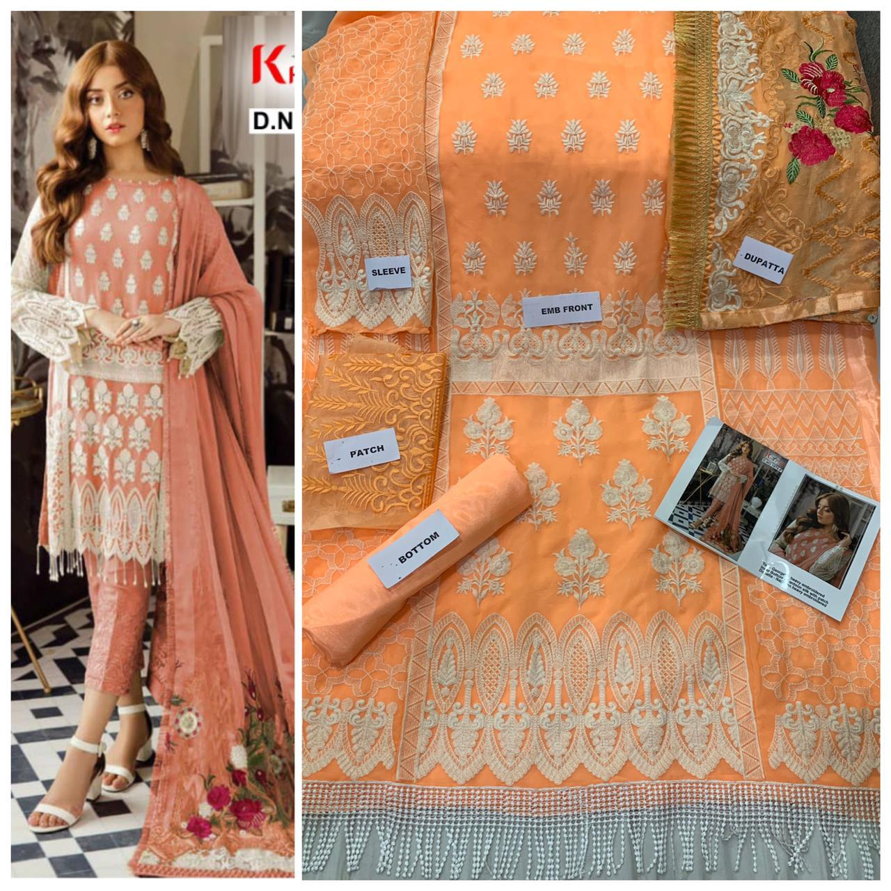 Khayyira Suits Rose Craft Vol 2 Georgette Embroidered Designer Salwar Suits Collections