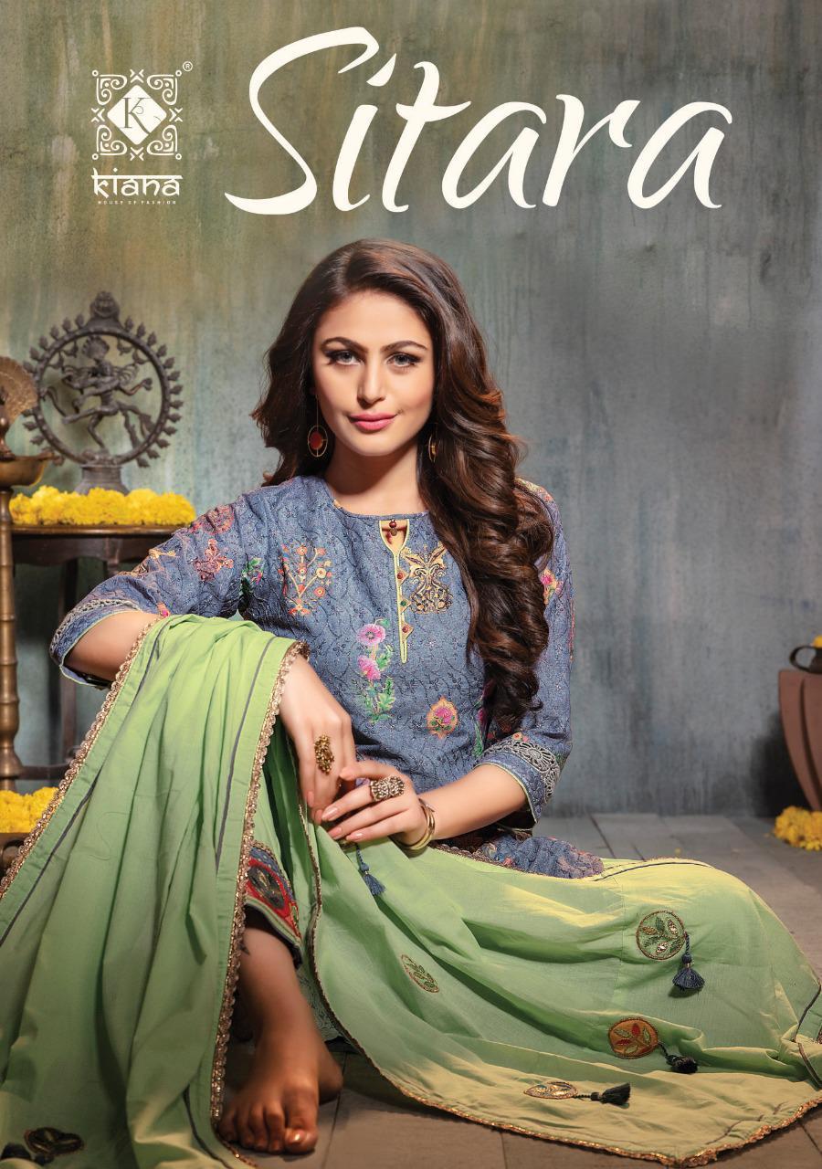 Kiana Launch Sitara Schiffli Fancy Digital Print Readymade Bottom Pant Sharara Style Suits