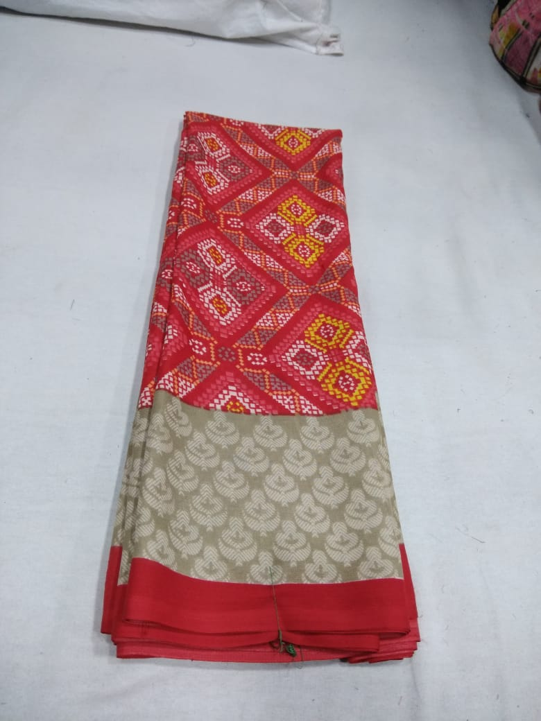 Kimaya By Narmada Daily Wear Crape Printed Saree At Lowest Price In India