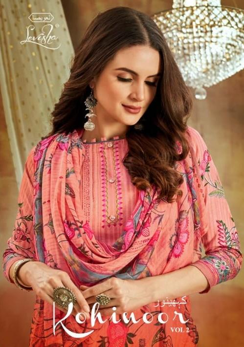 Kohinoor Vol 2 By Levisha Satin Cotton Fancy Dress Materials Supplier