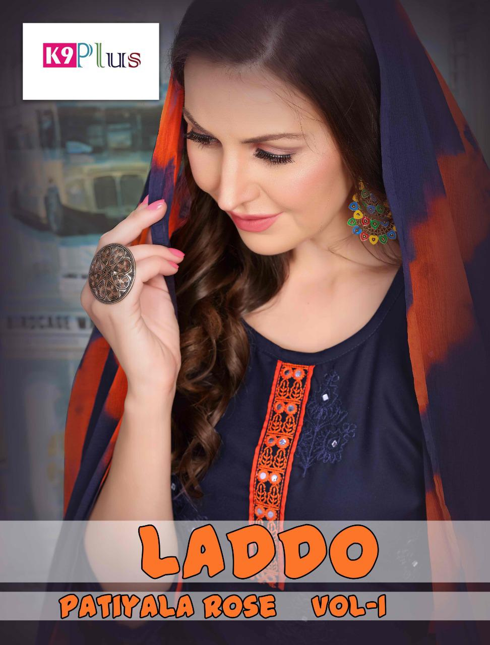 Laddo By K9 Plus Embroidery Work Rayon Readymade Patiyala Style Salwar Suits Trader