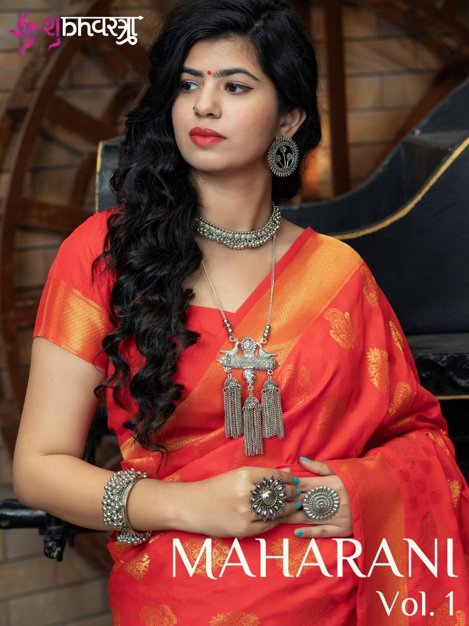 Maharani Vol 1 By Shubh Vastra 5201-5207 Series Maharani Silk Heavy Designer Saree
