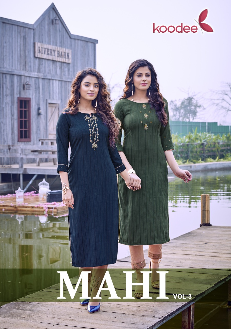 Mahi Vol 3 By Koodee Fancy Viscose Pretty Look Exclusive Kurti With Pant For Girls
