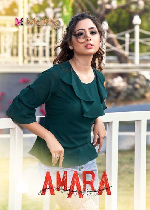 Majisha Nx Amara Georgette Short Top Ladies Wear Collection