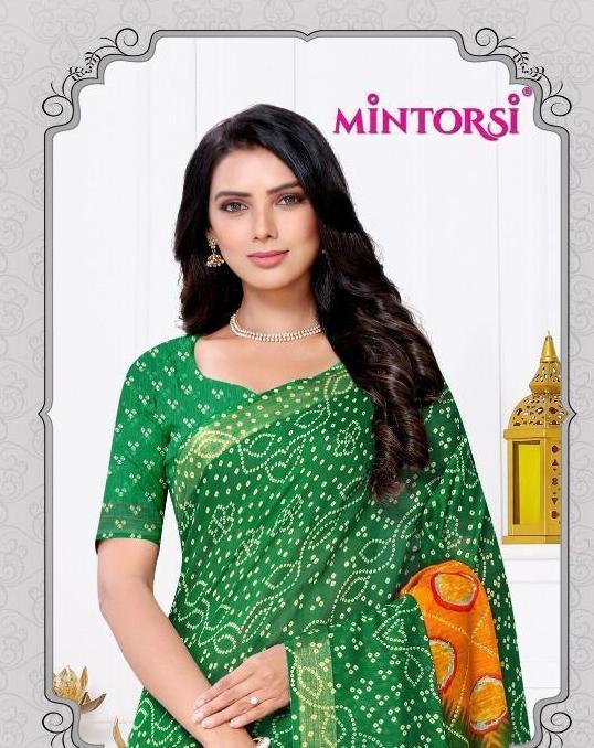 Mintorsi Seenia Bandhni Vol 2 Cotton Silk Saris Wholesaler
