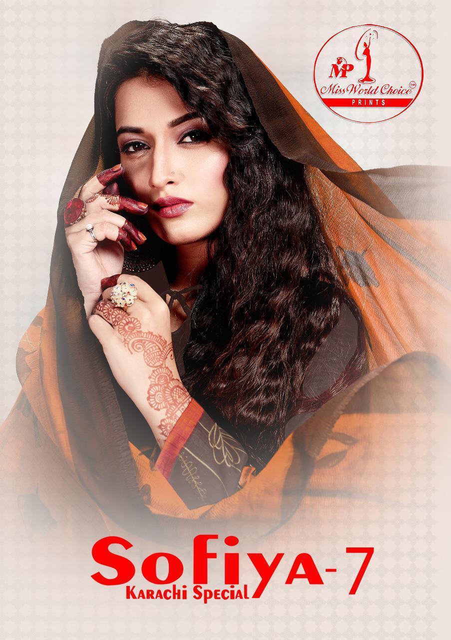 Miss World Choice Sofiya Karachi Vol 7 Cotton Daily Wear Dress Materials