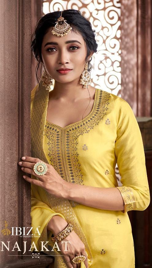 Najakat By Ibiza Pure Russial Jacquard Heavy Salwar Suits Collections