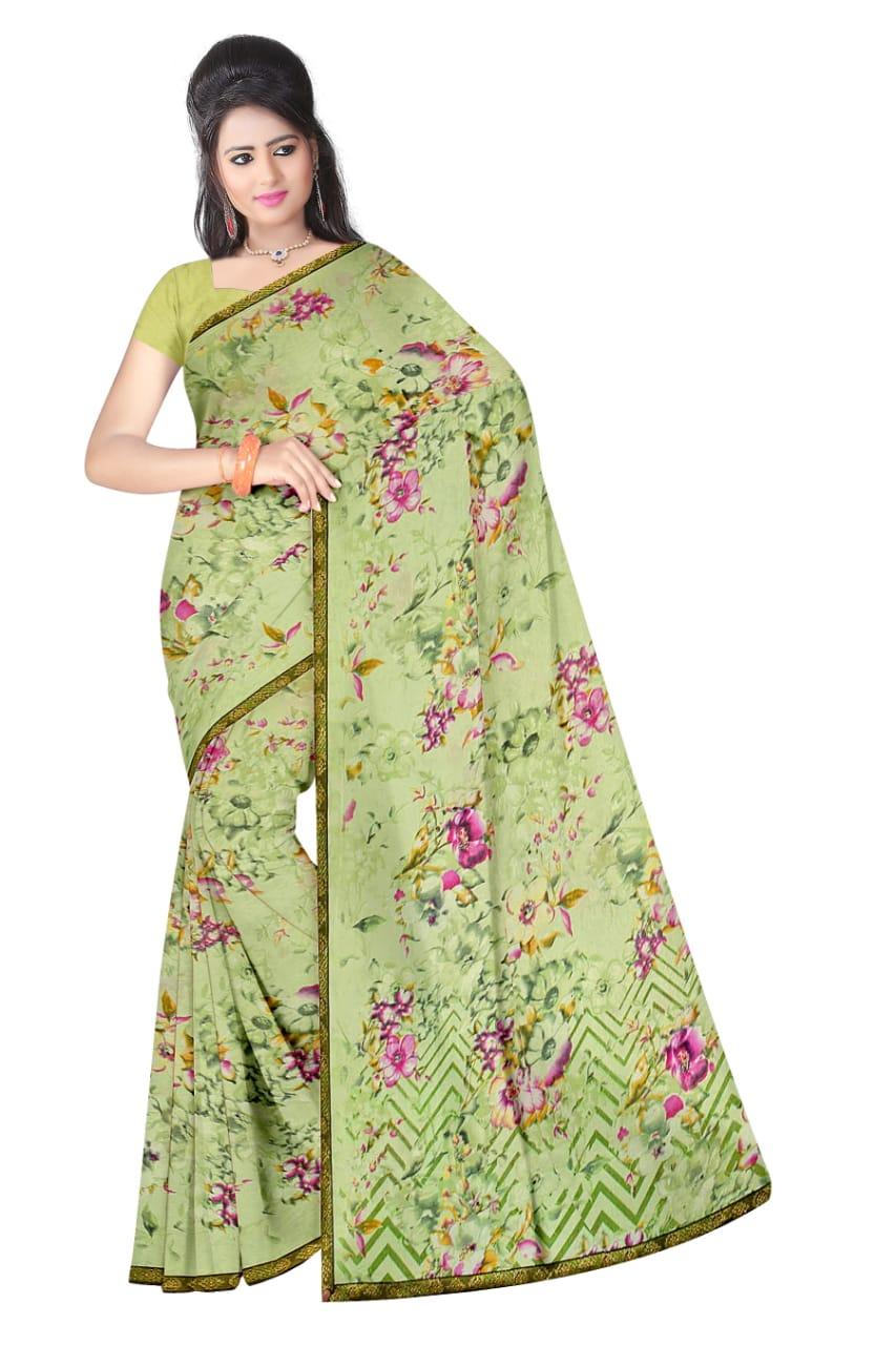 Narmada Saree Launch Kesari Vol 2 Renail With Border Light Colour Matching Saree Trader