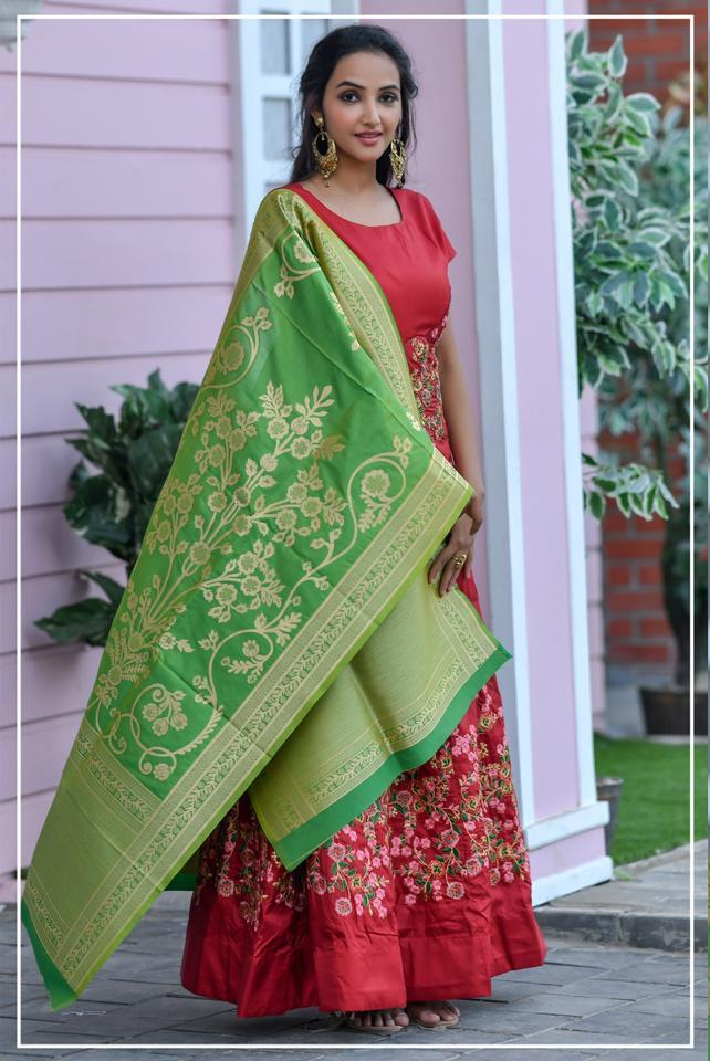 Peafowl Launch Peafowl Vol 64 Chennai Silk Long Style Designer Party And Wedding Wear Suits
